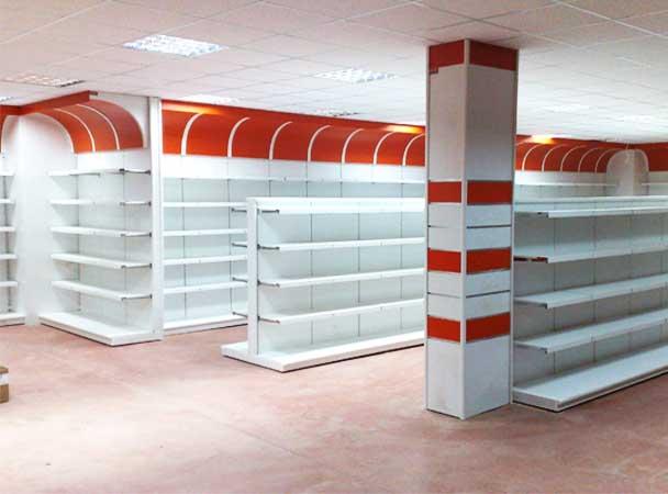 اجرای انواع قفسه فروشگاهی و قفسه انباری