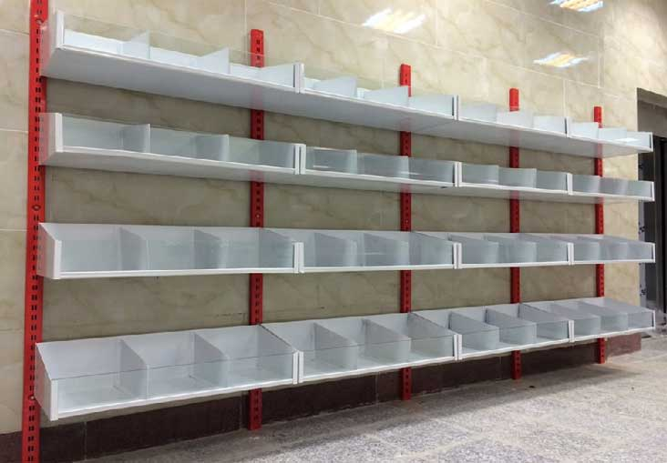 قفسه بندی سوپرمارکتی یک طرفه دیواری