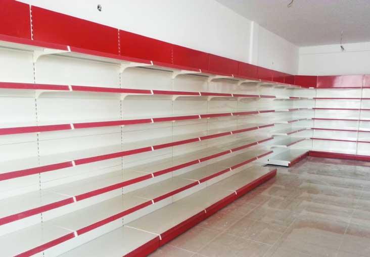 قفسه بندی سوپرمارکتی یک طرفه خود ایستا